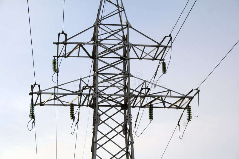 Download Powerline stock photo. Image of network, tension, night - 2233696
