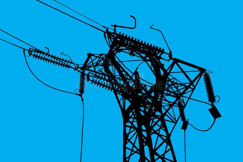 Powerline eindtoren stock afbeelding