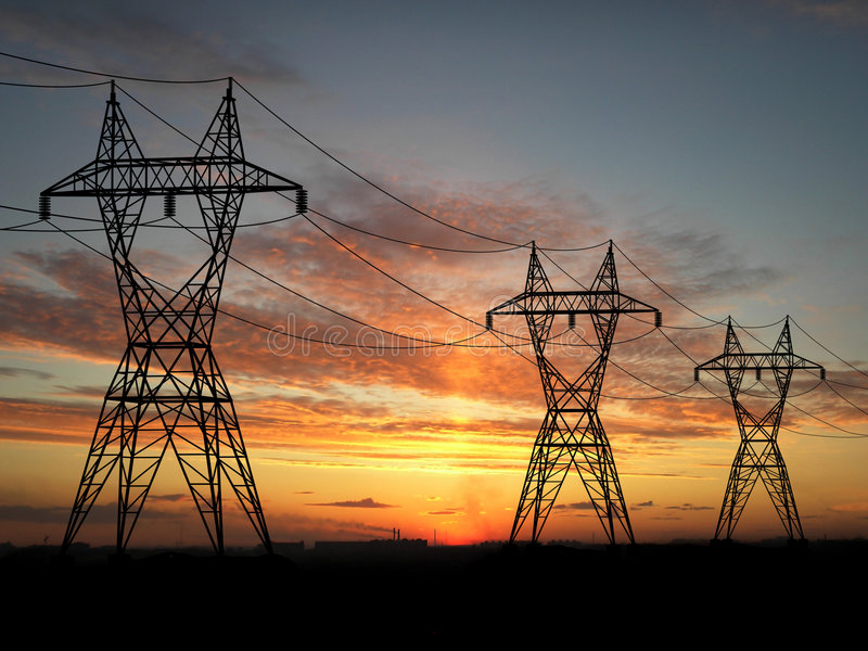 Powerlines fotografia stock libera da diritti