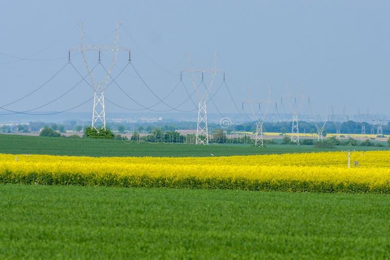 Powerlines stock foto's