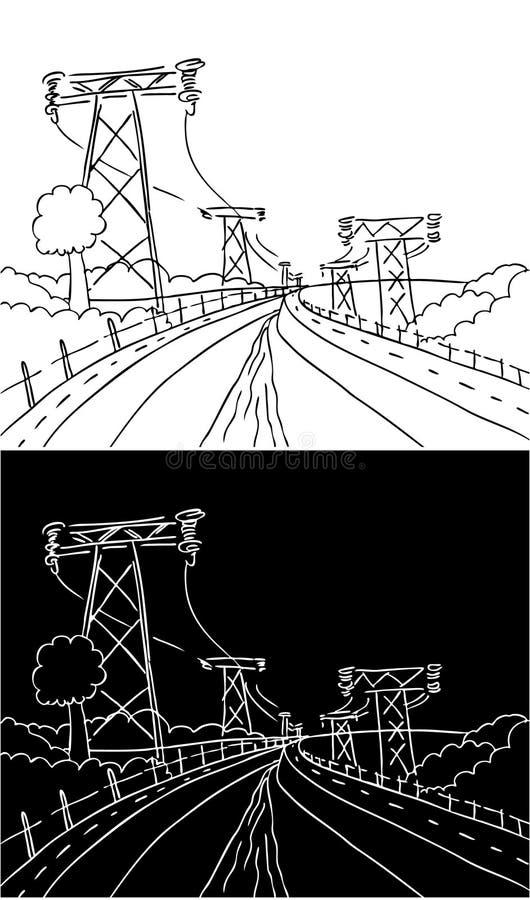 Powerlines Dam Landscape