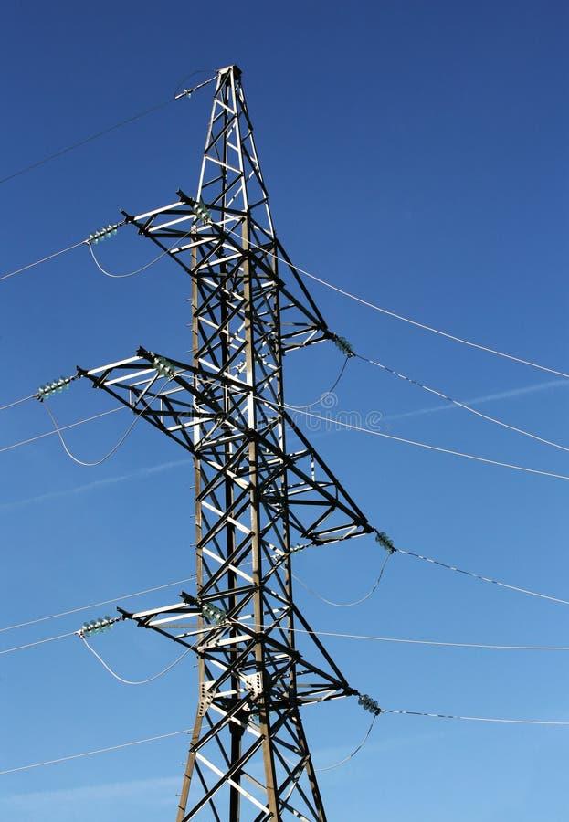 Powerlines elettrici fotografia stock libera da diritti
