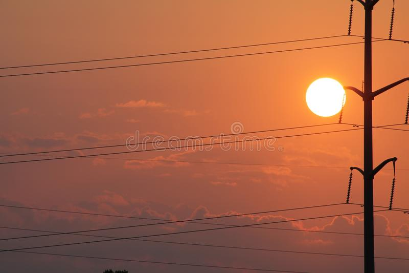 Powerlines stock photography