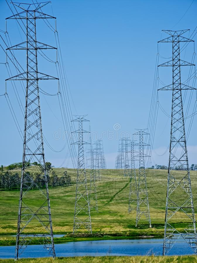 Download Powerlines Of Wivenhoe Power Station. Stock Photo - Image of somerset, australiana: 39512214