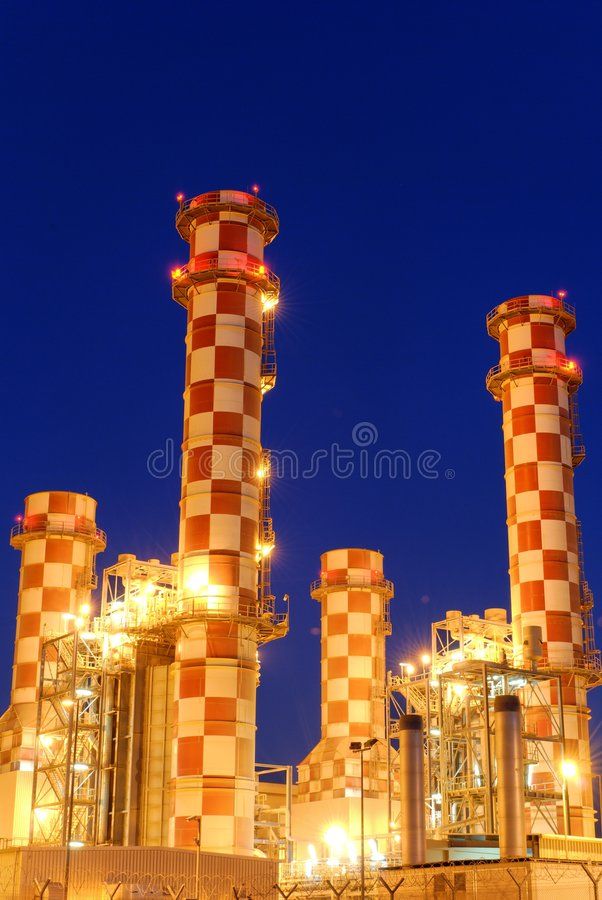 Download Powerplant stock photo. Image of night, heavy, east, arabic - 7376774