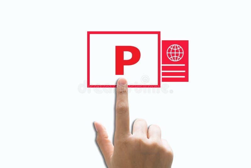 Powerpoint. Business man hand write powerpoint stock photos