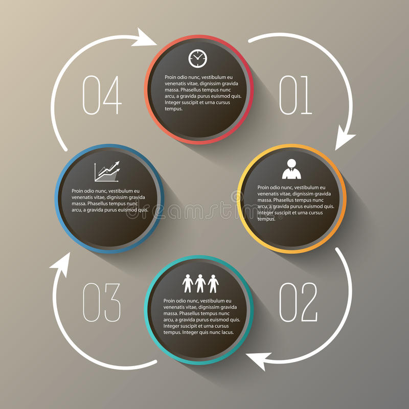 Powerpoint presentation rooms steps12. Modern Design infographic style template on white background with numbered 3d effect triangle. Vector illustration EPS 10 royalty free illustration