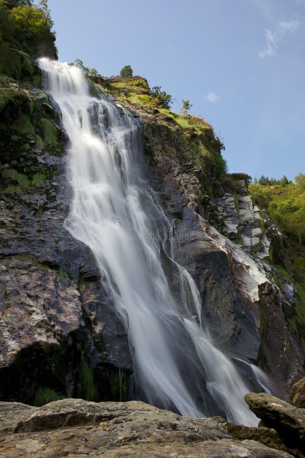 Powerscourt瀑布在爱尔兰 库存图片