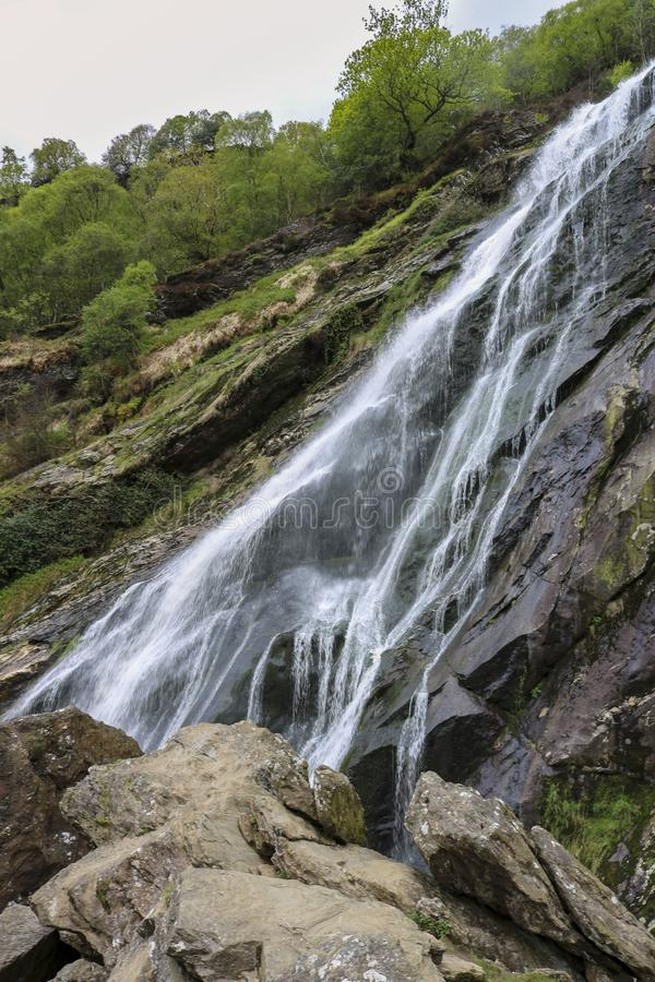 Powerscourt瀑布,威克洛,爱尔兰 图库摄影