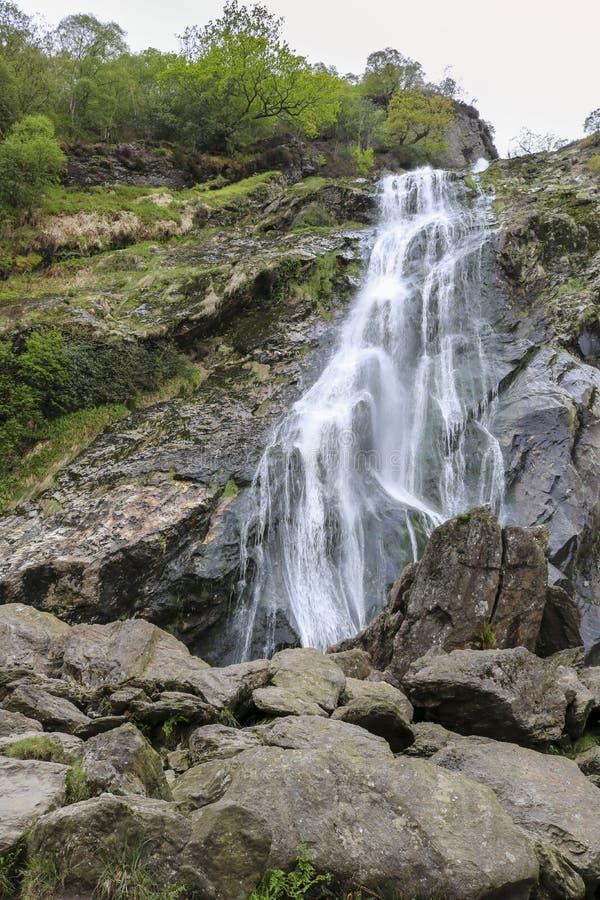 Powerscourt瀑布,威克洛,爱尔兰 库存照片