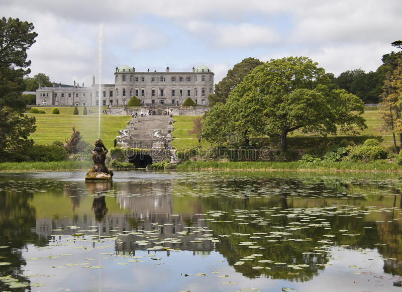 Powerscourt House and gardens. In Enniskerry, co. Wicklow royalty free stock photography