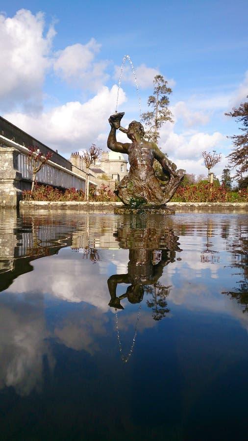 Powerscourt-Wasserbrunnen stockfotografie