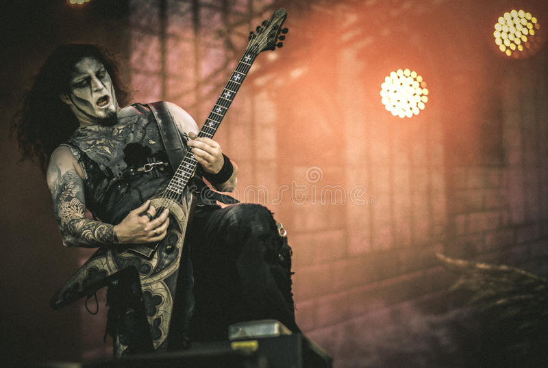 Powerwolf, Greywolf live in concert 2017. Powerwolf is a German power metal band created in 2003 by Charles and Matthew Greywolf. The group is notable for having royalty free stock image