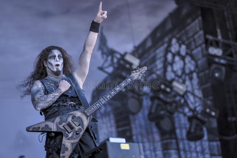 Powerwolf, Greywolf live concert Hellfest 2017. Powerwolf is a German power metal band created in 2003 by Charles and Matthew Greywolf. The group is notable for stock photography