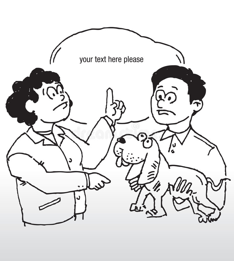powiązany temat psa royalty ilustracja