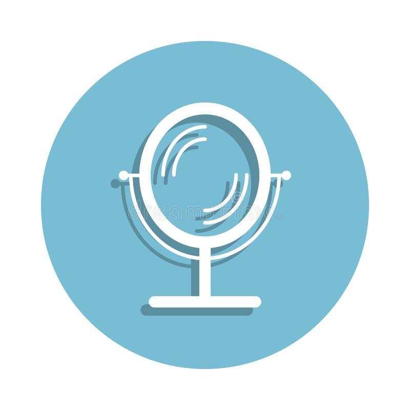 powiększać lustrzaną ikonę w odznaka stylu Jeden łazienki inkasowa ikona może używać dla UI, UX ilustracja wektor