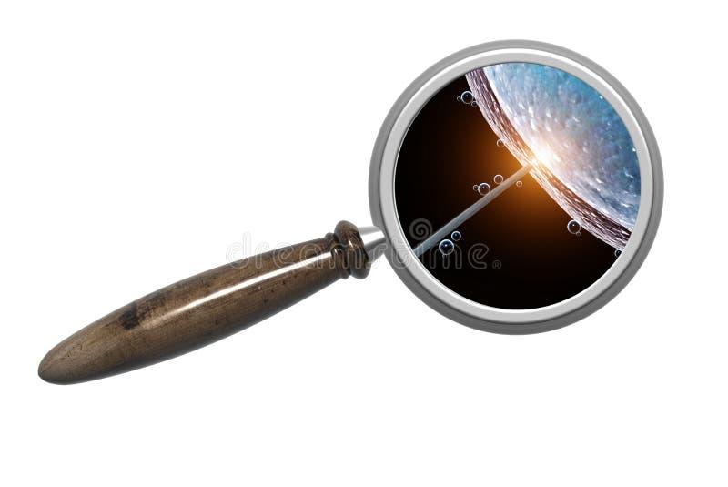Powiększać in vitro - szkło i moment nawożenie ilustracji