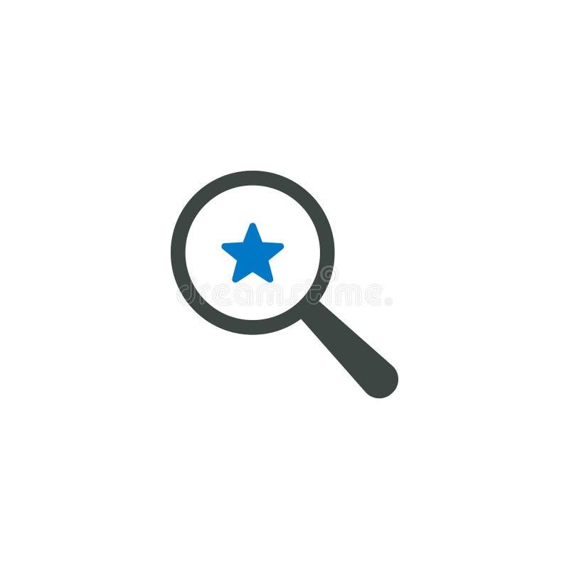 Powiększający - szklana ikona, gra główna rolę ikonę royalty ilustracja