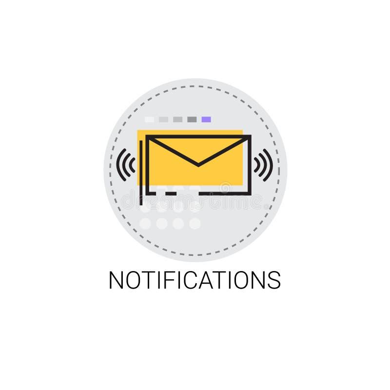 Powiadomienie emaila Inbox Kopertowa wiadomość Wysyła poczta ilustracja wektor