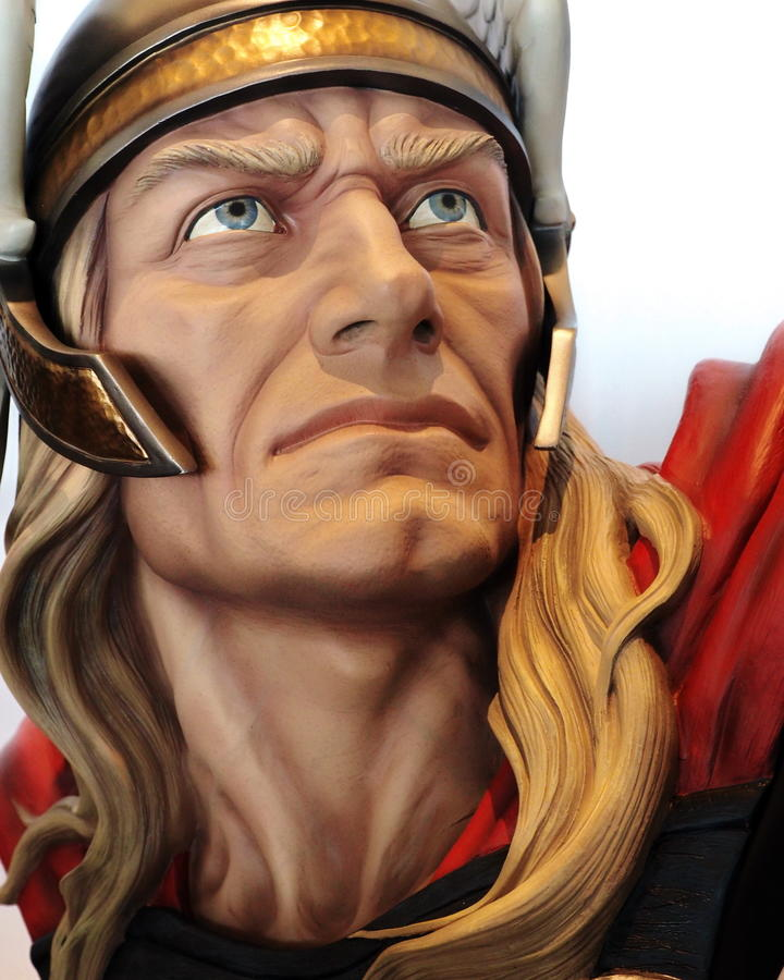 Powieściowego charakteru bohatera Thor, Tajlandia Komiczny przeciw 2014 zdjęcia royalty free