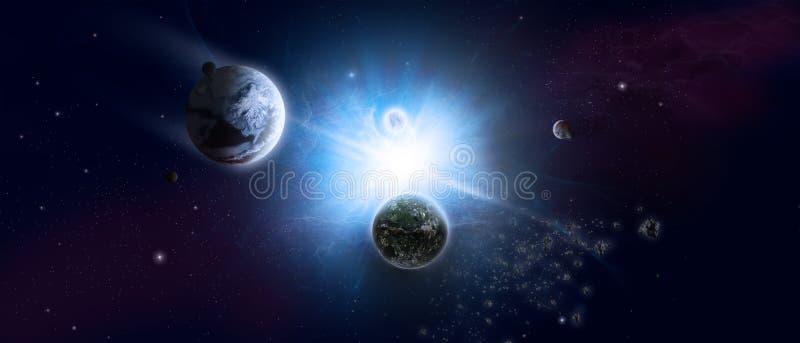Wszechświat i starfield royalty ilustracja