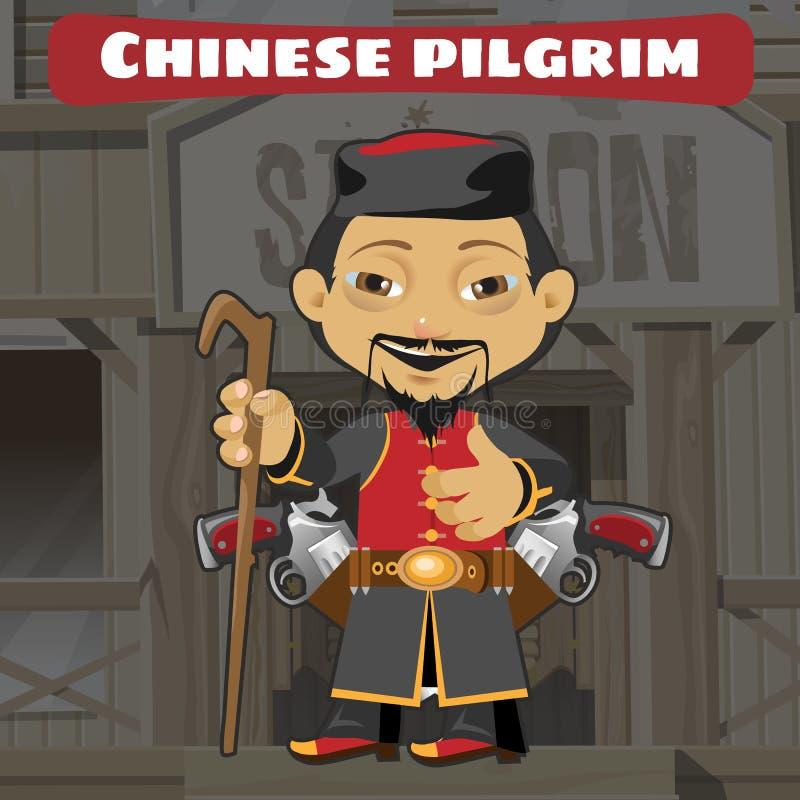 Powieściowy postać z kreskówki - chiński pielgrzym obraz royalty free