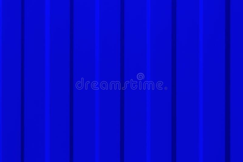 Powierzchnia metal profilował panelu w błękicie w górę obrazy stock