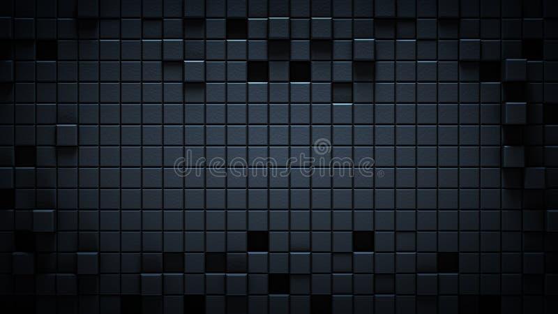 Powierzchnia textured czarny sześcianu abstrakt 3D odpłaca się royalty ilustracja
