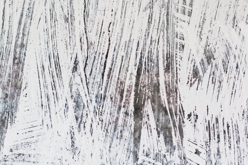 Powierzchnia z narysami w czarny i biały Tekstura dla projekta i tła obraz royalty free