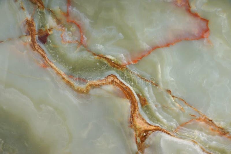 Powierzchnia zielony onyks z czerwonymi żyłami obrazy stock