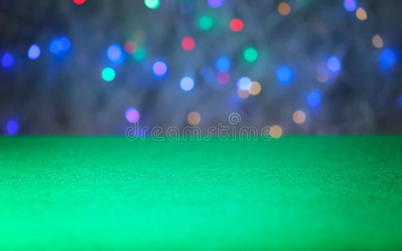 Powierzchnia zielony uprawia hazard stół zdjęcia royalty free