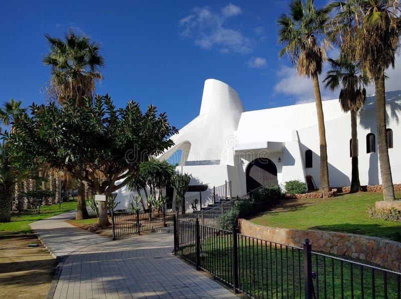 Powierzchowność Aguadulce kościół Hiszpania obrazy royalty free