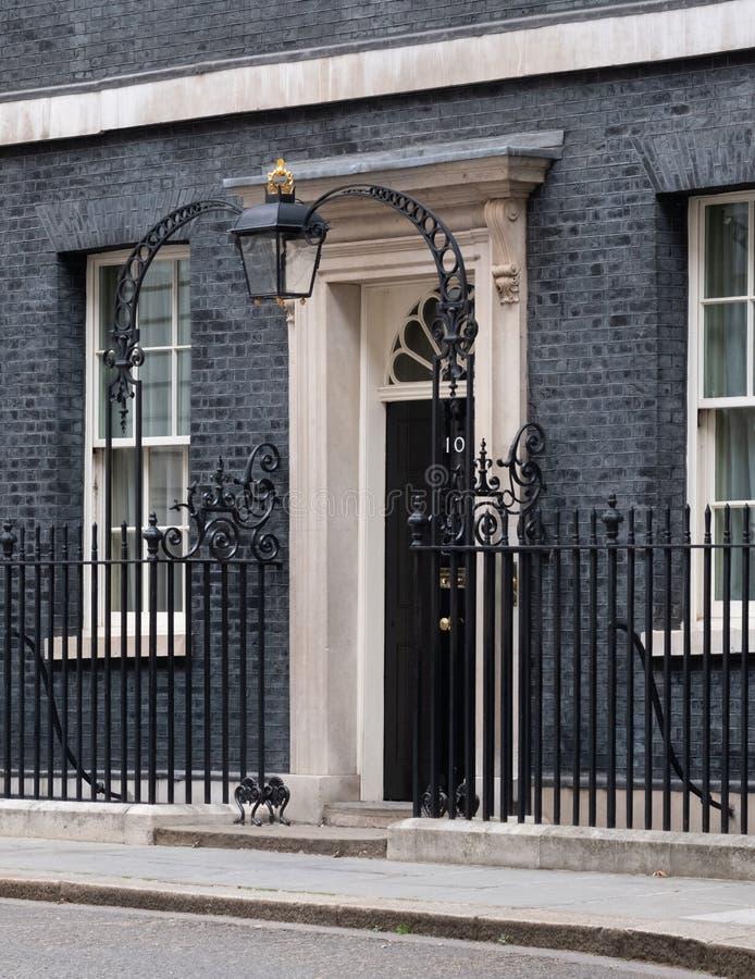 Powierzchowno?? 10 Downing Street, oficjalna rezydencja i biuro premier UK, zdjęcie royalty free