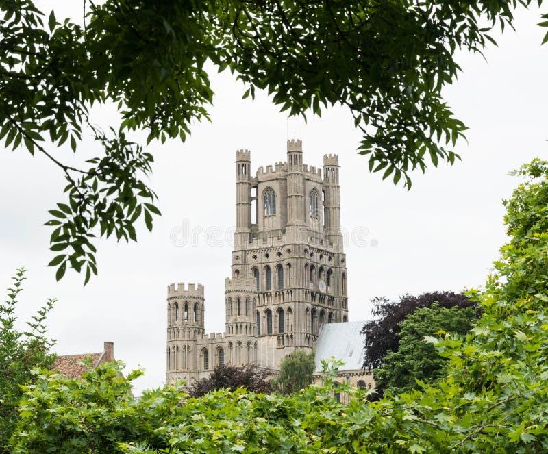 Powierzchowność Ely katedra fotografia stock