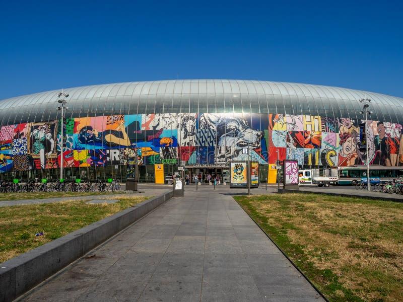 Powierzchowność Gare de Strasburg, Strasburg, Francja zdjęcie royalty free