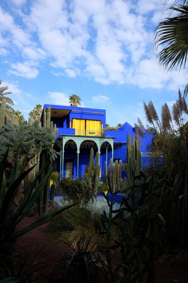Powierzchowność Majorelle ogród w Marrakech, Maroko obraz stock