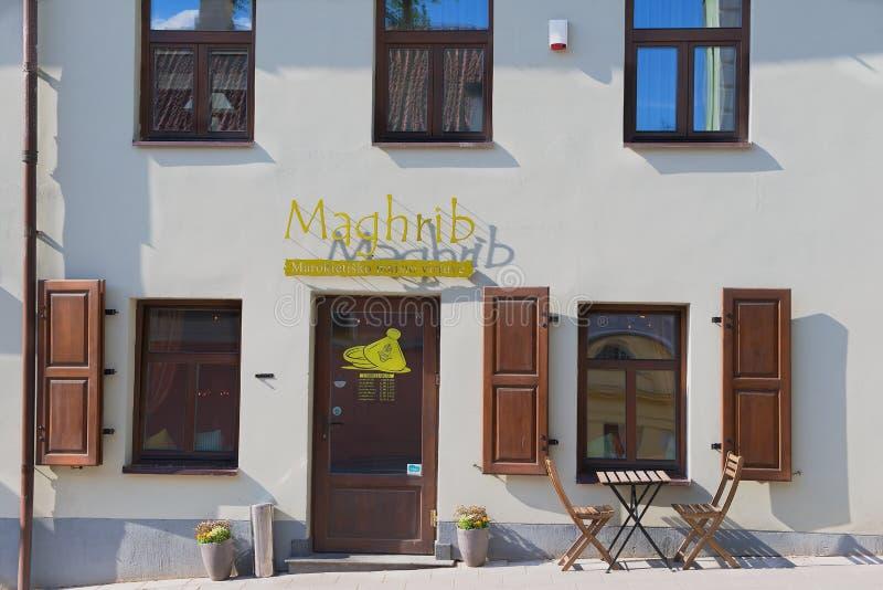 Powierzchowność Marokańska restauracja w Vilnius, Lithuania fotografia royalty free