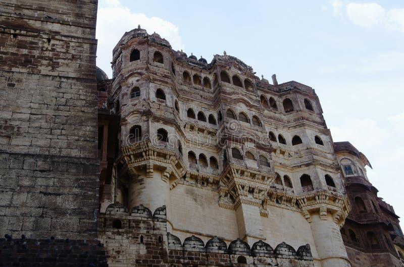 Powierzchowność Mehrangarh lub Mehran fort, Jodhpur, Rajasthan, India zdjęcia stock