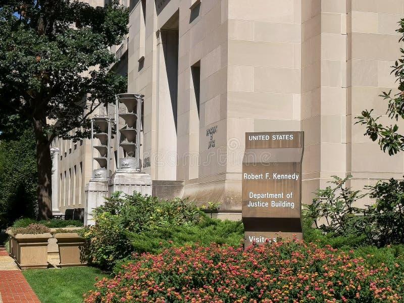 Powierzchowność my sprawiedliwość zgłębiał budynek w Washington zdjęcia royalty free