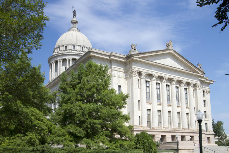 Powierzchowność Oklahoma stanu capitol budynek obrazy royalty free