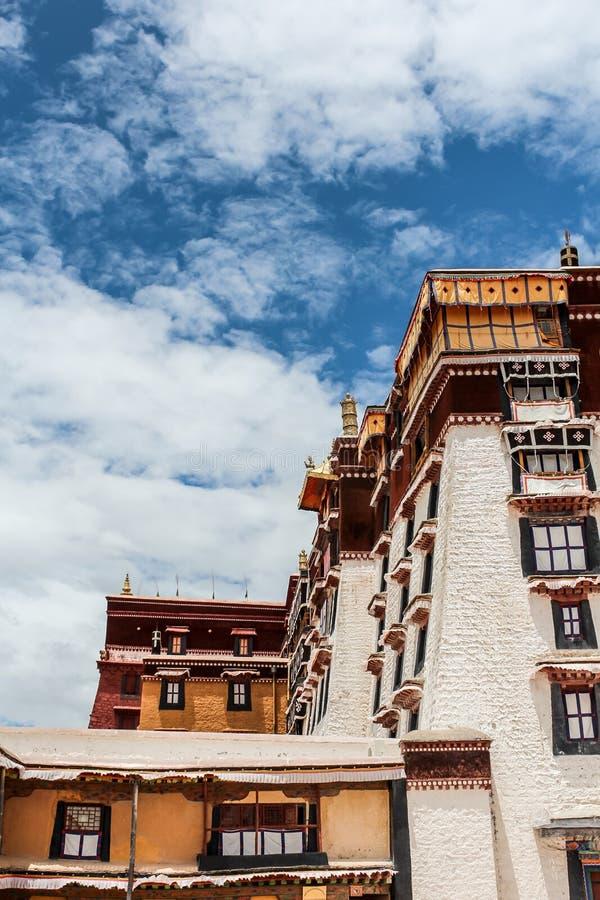 Powierzchowność Potala pałac w Tybet obrazy royalty free