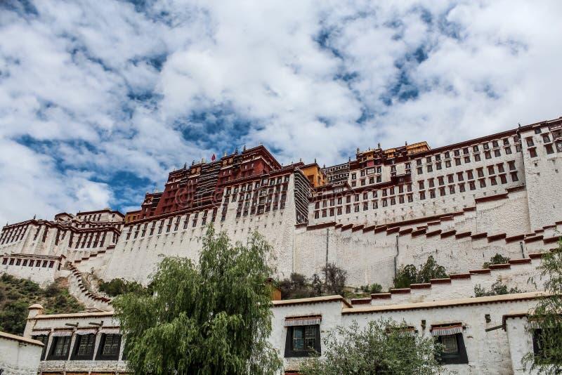 Powierzchowność Potala pałac w Tybet zdjęcie royalty free