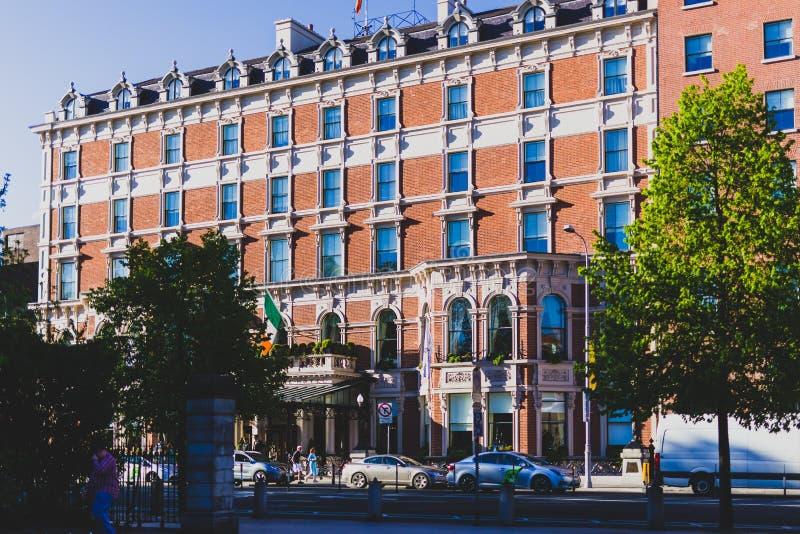 Powierzchowność Shelbourne hotel w Dublin centrum miasta obraz royalty free