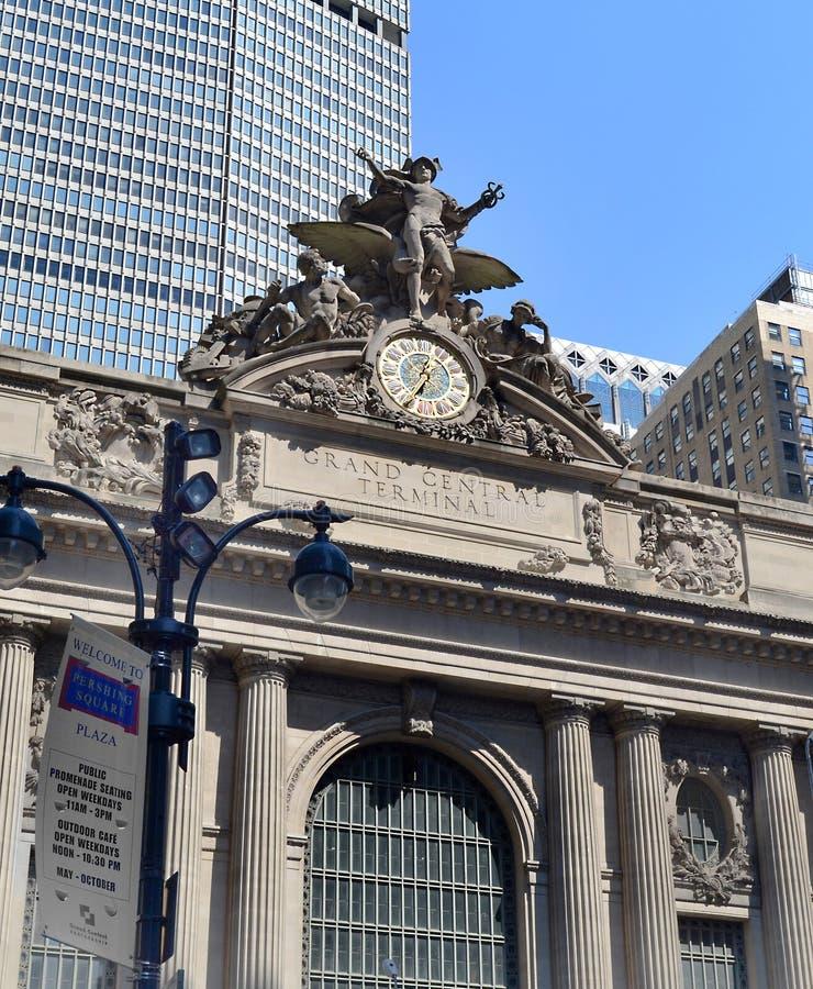 Powierzchowność Uroczysty Środkowy Terminal w Miasto Nowy Jork, NY usa obraz stock