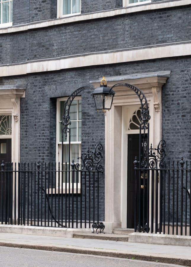 Powierzchowno?? 10 Downing Street, oficjalna rezydencja i biuro premier UK, obraz royalty free