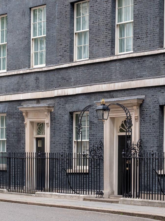 Powierzchowno?? 10 Downing Street, oficjalna rezydencja i biuro premier UK, obrazy stock