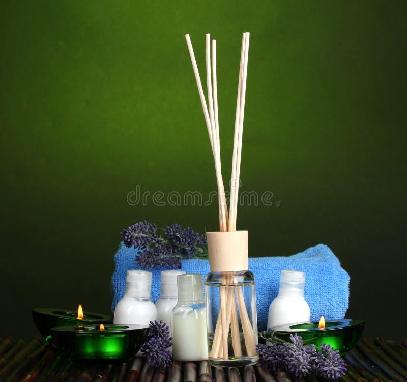 powietrze butelkuje świeczek freshener ręcznika zdjęcia royalty free