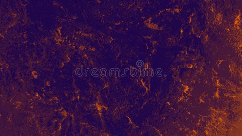 Powietrze i woda pod pomarańczowym światłem Głęboki fiołkowy atmospherical plecy obrazy stock