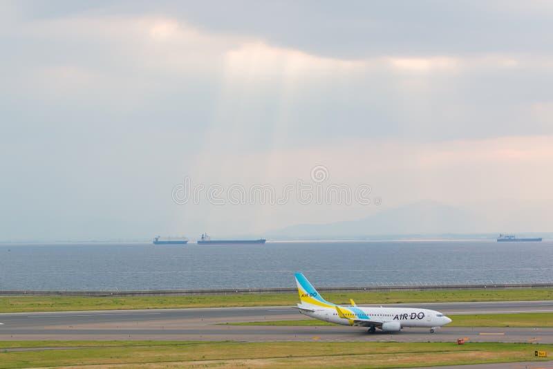 Powietrze Robi w Chubu Centrair lotnisku międzynarodowym Japonia zdjęcia stock
