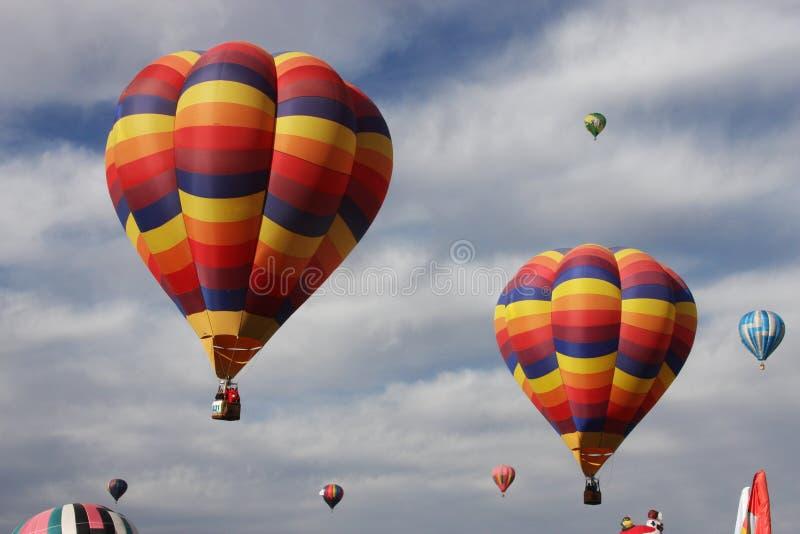 powietrze szybko się zwiększać kolorowy gorącego obraz stock